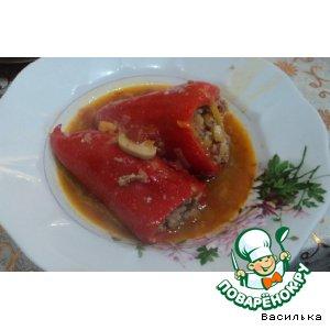 Рецепт: Фаршированные перцы с грибами
