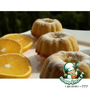 Рецепт: Апельсиновые кексы с кокосовой стружкой