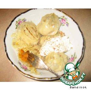 Рецепт: Манты с тыквой
