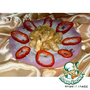 Куриное филе в грушевом соусе