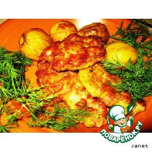 Рецепт: Оладьи мясные с кабачком
