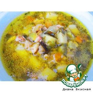 Рецепт: Куриный суп Жареный