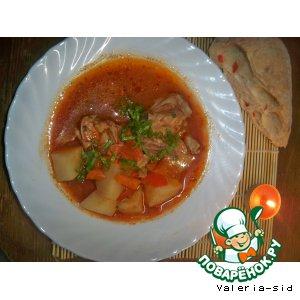 как приготовить кавказкий соус суп
