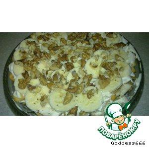 Рецепт: Крекерно-банановый десерт