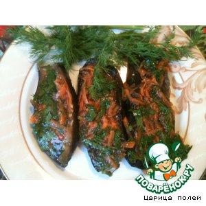 Рецепт: Закуска Малосольные баклажаны