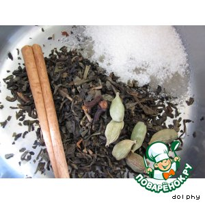 Рецепт: Пряный зеленый чай
