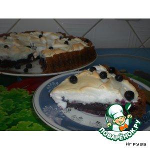 """Рецепт: Черничный пирог под  """"шубкой""""  из безе"""
