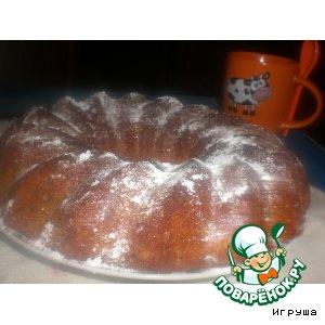 Рецепт: Ореховый кекс на манке и кефире