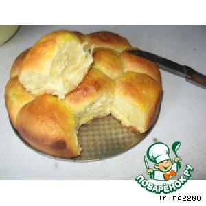 Рецепт: Сдобные булочки с апельсиновым кремом