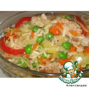 Рецепт: Овощное рагу с мясным фаршем