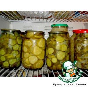 Рецепт: Салат из огурцов с луком