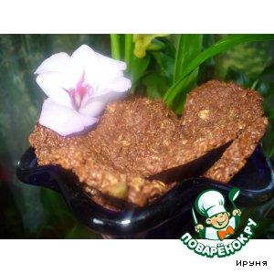 Рецепт: Шоколадное печенье из мюсли