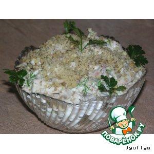 """Рецепт: Салат """"Кальмары под ореховой вуалью"""""""