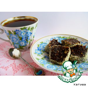 Рецепт: Десерт Сервелат из чернослива