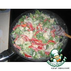 Рецепт: Овощи в молочном соусе