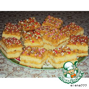 Рецепт: Бисквитные пирожные Ярмарка
