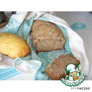 Рецепт: Черный хлеб на быстрой закваске