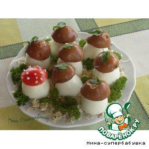 """Рецепт: Закуска """"Русские грибки"""""""