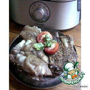 Рецепт: Свинные ребра и ножка на пиве