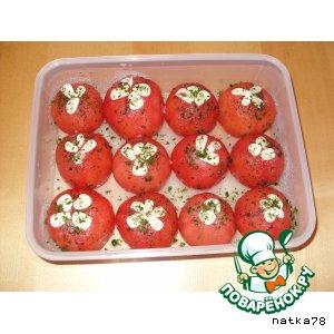 """Рецепт: Малосольные помидоры """"Призывники"""""""