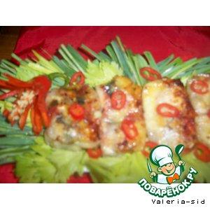 """Рецепт: Рисовые блинчики """"рыба-мясо"""""""