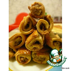 Рецепт: Бармак с грецкими орехами
