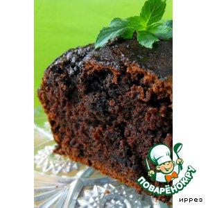 Рецепт: Шоколадный кекс с кабачком