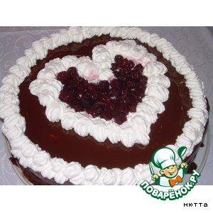 Рецепт: Торт Вишнeвая любовь