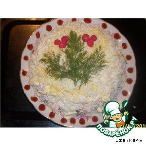 "Рецепт: Салат ""Вечерок"""