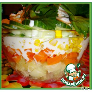 Рецепт: Овощной салат с мясом