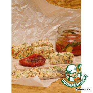 Рецепт: Закуска из брынзы с вялеными томатами