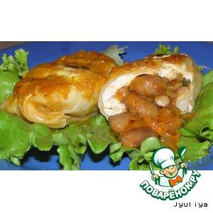 Рецепт: Голубцы с мясом и фасолью
