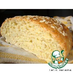 Рецепт: Хлеб с овсяными хлопьями и медом