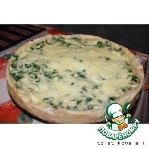 Рецепт: Пирог  с зеленью и яйцом