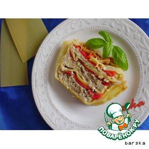"Рецепт: Пирог-лазанья ""Тройка"""