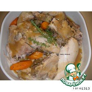 Рецепт: Kурица с 40 дольками чеснока