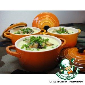 Рецепт: Суп из цветной капусты с мидиями «Кустракиты»