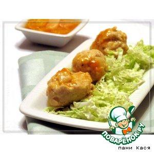 Рецепт: Куриные фрикадельки в цитрусовом соусе