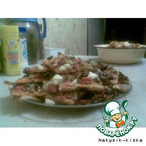 Рецепт: Пицца с брынзой или сыром