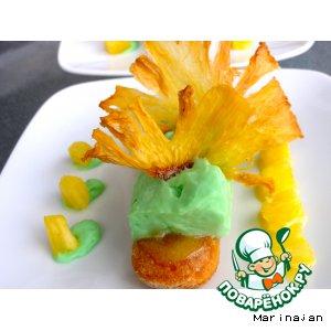 Рецепт: Десерт Дамские пальчики с фруктовым муссом