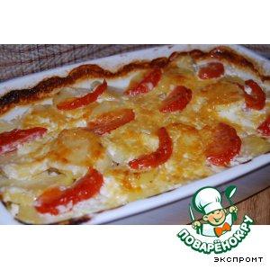 Рецепт: Картофельная запеканка Простая