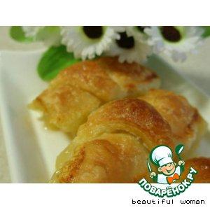 Рецепт: Яблочные слоечки в лимонадной карамели