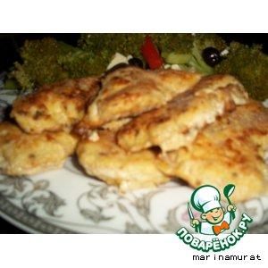 Рецепт: Бризоли из филе индейки