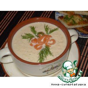 Рецепт: Суп-крем из лосося