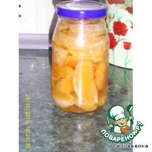 Рецепт Компот из апельсиновых долек