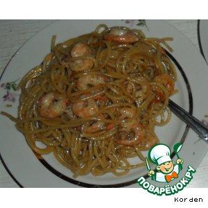Рецепт: Паста с креветками