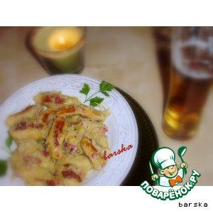 Рецепт: Шупфнудель с квашеной капустой
