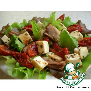 Рецепт: Яркий салат со свининой
