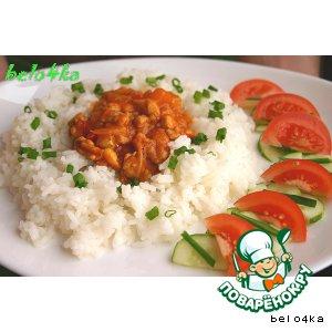 Рецепт: Фруктовая курица в кисло-сладком соусе