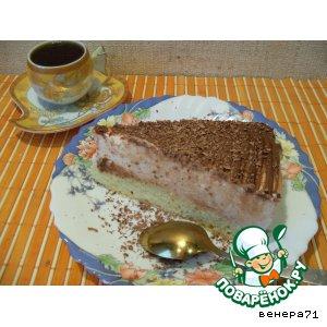 Рецепт: Торт с творожным суфле